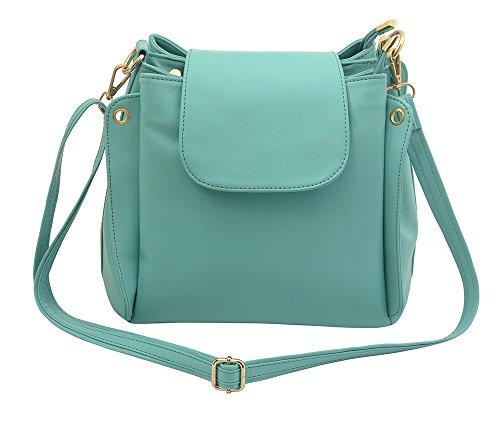 Lychee Bags Girl\'s Green PU Lara Sling Bag