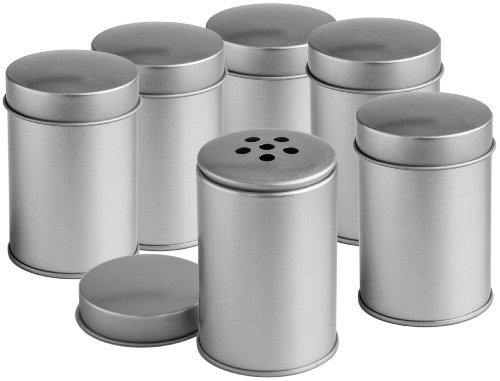 Rimoco Lot de 6 boîtes à épices avec trous Diamètre 5,8 cm, hauteur 8,6 cm