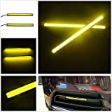 #9: A Pair of Waterproof LED Day Time Running (DRL) Lights, 17 cm (Yellow)