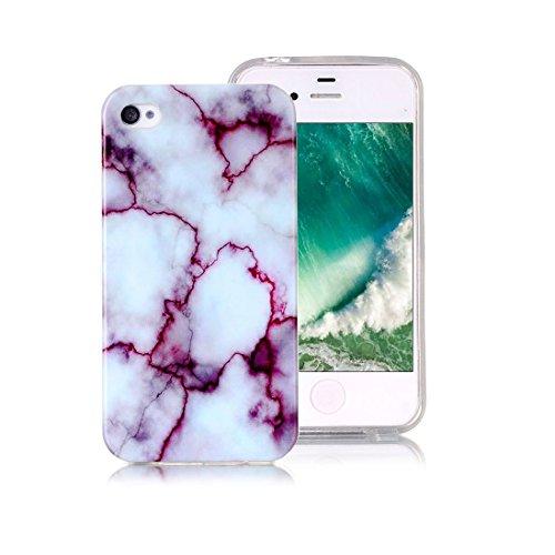 XiDe Coque iPhone 8 Premium Motif Texture en Marbre Housse Antichoc Case Silicone Gel Coque Ultra Mince Etui Cover Housse de Protection avec Anti-dérapante Anti-rayure - Fissures Dorées Violet Jade