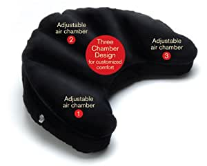 Mobile Meditator Inflatable Meditation Cushion and Travel Pillow (Black)