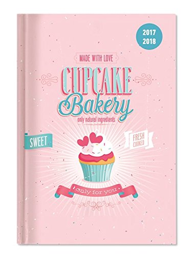 Diary School collegetimer Cupcake 2017/2018–Weekly–224Pages–15x 21cm