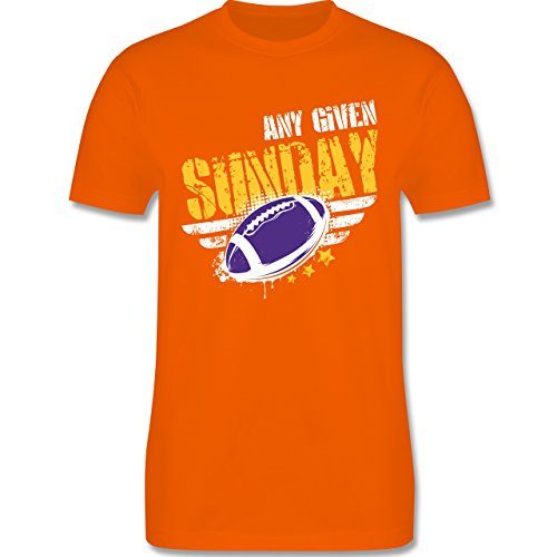 Shirtracer American Football - any Given Sunday Football Minnesota - Herren T-Shirt Rundhals Orange