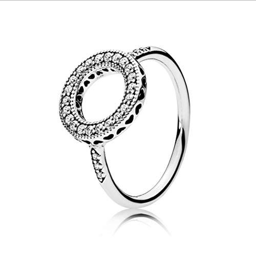 Silber Künstliche Diamond Halo Weiblichen Schmuck Girl Datum Hochzeit, Sieben ()
