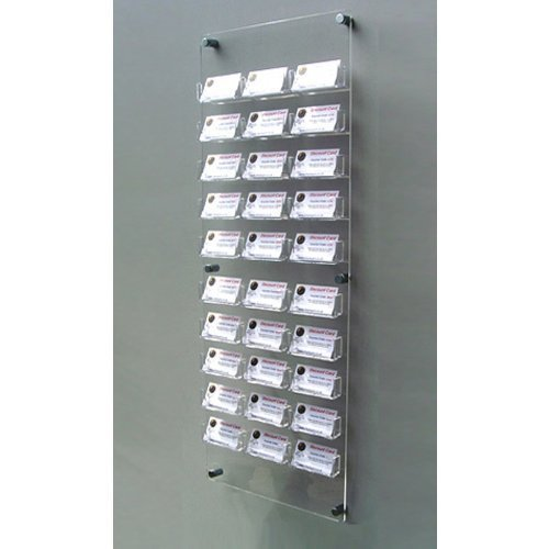 30 bay wall mount business card holder free shipping by display 30 bay wall mount business card holder free shipping from display products ltd reheart Images