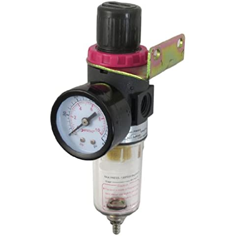 Sourcingmap a12071100ux0383 - Sorgente di luce afr-2000 regolatore di pressione dell'aria compressore pneumatico rosso per il trattamento di 9,9 kgf /