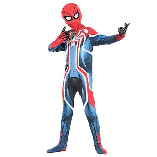 Yujingc Velocity Suit Spiderman Strumpfhosen Kinder Halloween Kostüme Siamese Stretch Performance Enge Kleidung Kostüme Gift für Kinder, Blue,XL