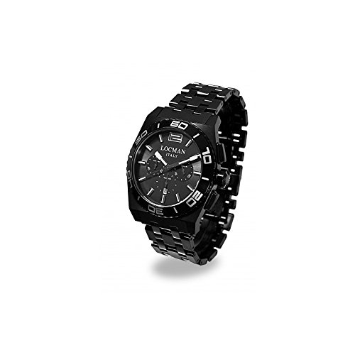 Montre chronographe Homme Stealth mer ref. 2120212bkka-gykbrk–Locman