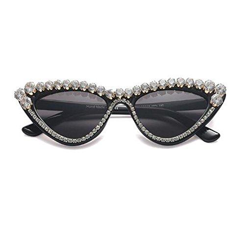Hzjundasi Damen Katzenauge Sonnenbrille Super Licht Chic Retro Dreieck Rahmen Mode Sonnenlicht Brillen