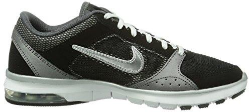 Nike Air Max Fit, Chaussures de sports extérieurs femme Gris (Black/Mtllc Slvr-Drk Gry-White)