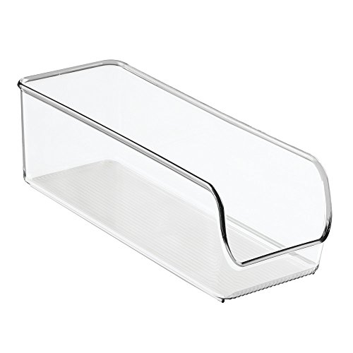 InterDesign Linus Storage Boxes, Kitchen Storage Tray, Shatter-Proof Plastic, Clear, Small