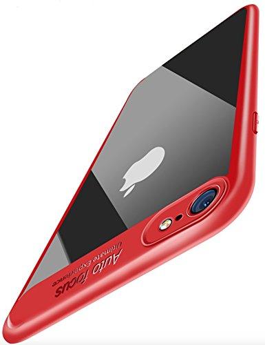 PfX] Rote Premium Hülle kompatibel mit iPhone 8 / iPhone 7 - [Unterstützt Kabelloses Laden] aus edlem Acryl und Silikonrand (Rot)