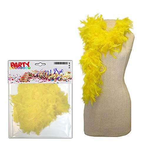 PARTY DISCOUNT ® Federboa, ca. 180 cm lang, gelb