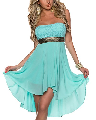 Donna Vestiti A Tubino Senza Spalline Asimmetrico Vestito Da Matrimonio Banchetto Sera Dress Blu