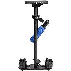 """ASHANKS Dslr Steadicam 24 """"/ 60cm S60C estabilizador de mano de fibra de carbono para cámara de video DSLR y videocámara DV Steadycam hasta 6 libras / 2.7 kg"""