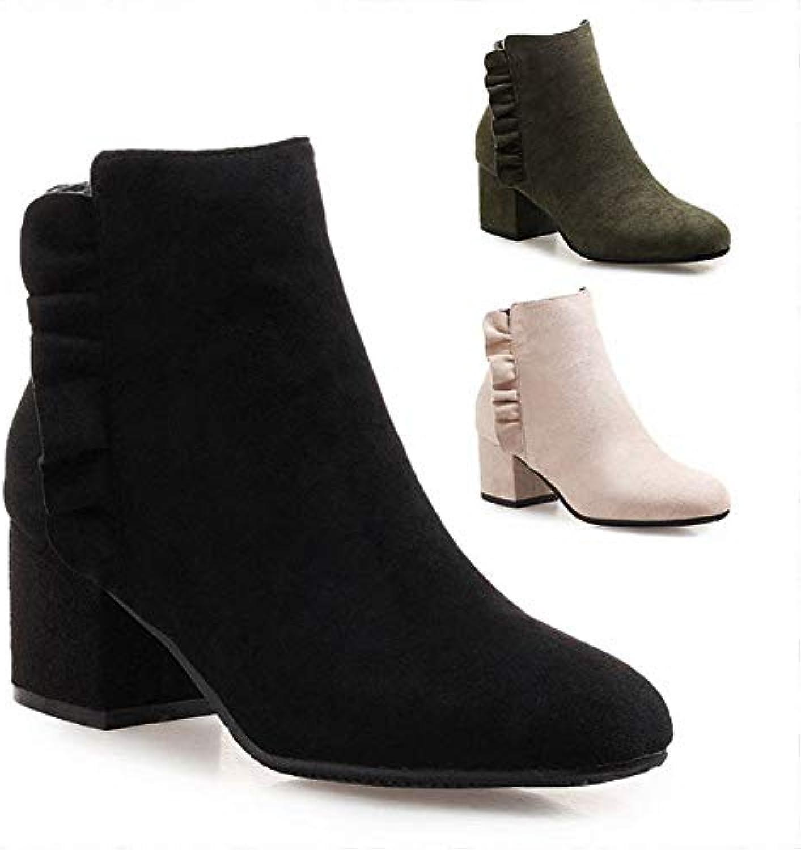 IG Stivali da Donna - - - Autunno e Inverno Spesso con Stivali Stivali a Punta Tacco Alto 5.Stivali 5Cm di Martin...   Tatto Comodo    Scolaro/Ragazze Scarpa  812e60