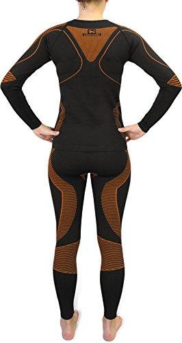 Sport-Funktionsunterwäsche-Set für Damen und Herren von POLAR HUSKY® Extreme Active Wear/Orange