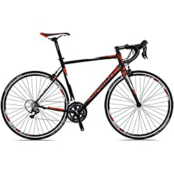"Sprint Monza Race 28"" Bicicleta de Carretera Road Bike 530 mm Negro Mate 3X8 Cambios"