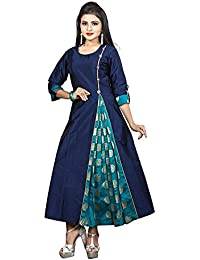 Ruchika Fashion Women's Blue Colour Redy Made Kurtas