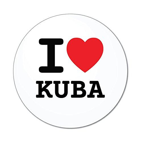Preisvergleich Produktbild JOllify Aufkleber - KUBA – Farbe: Design: I love - Ich liebe