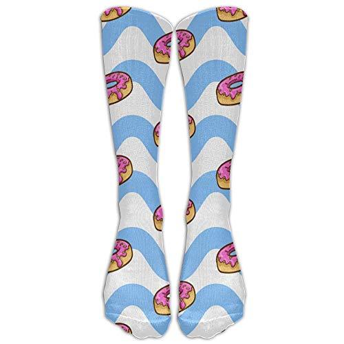 ouyjian Jeffostie Donut Wave Unisex Lange Socken Crew Athletic Kniestrümpfe -
