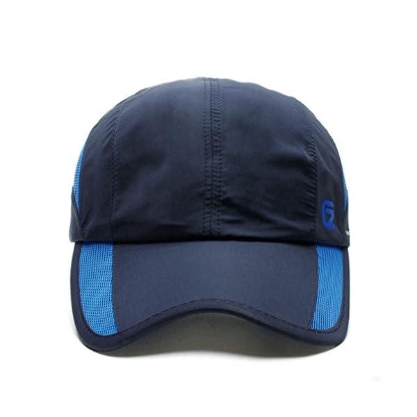 GADIEMKENSD Quick Dry Sports Hat Lightweight Breathable Soft Outdoor Run Cap  (Classic up ... 282162fce27