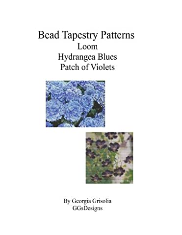 Bead Tapestry Patterns loom Hydrangea Blues Patch of Violets