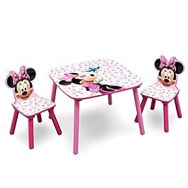 Disney – Set Tavolo con 2 sedie per bambini Minnie Mouse