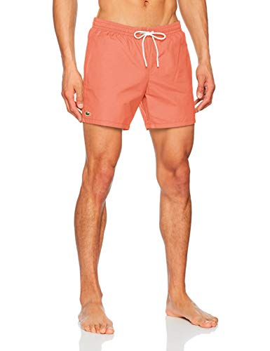 Lacoste Herren Mh7092 Badeshorts, Orange (Dianthus/Aquarium 07h 9gu), Large