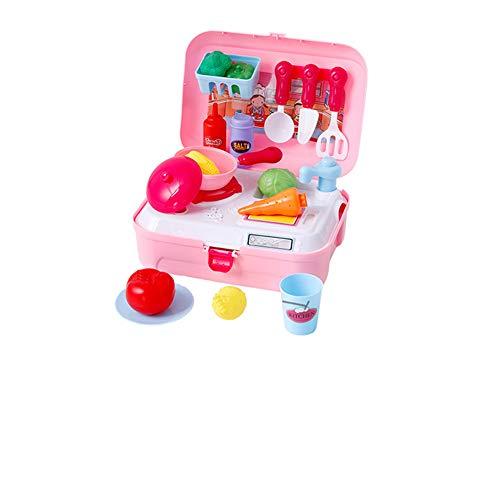 TrifyCore Pretend Play Kochen Spielzeug Set Realistische Geschirr-Set für Kinder Servierteller Geschirr Geschirr Spielset Vorschullernspiel für Kinder Multicolor 1Set