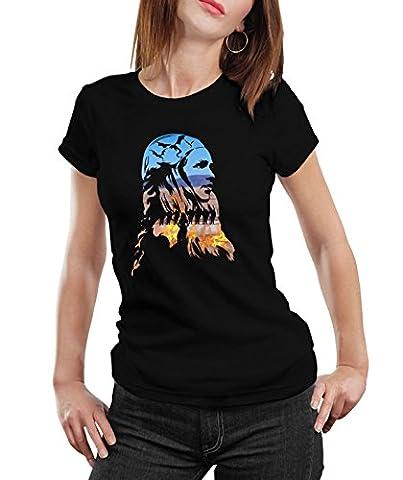 Stylotex Damen / Girlie T-Shirt Khaleesi v2 , Größe:M;Farbe:schwarz