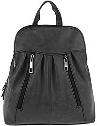 Marc Chantal - Bolso mochila  de material sintético para mujer negro negro 26x28x10 cm (BxHxT)