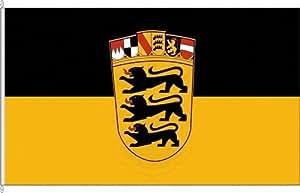 Königsbanner Hissflagge Landesdienstflagge Baden-Württemberg - 120 x 200cm - Flagge und Fahne