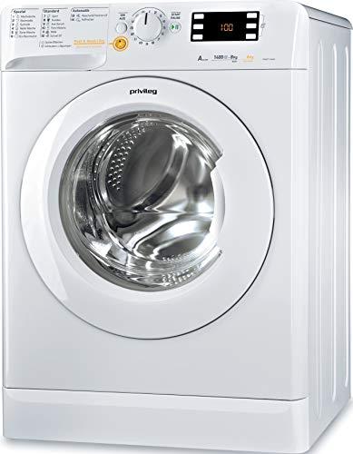 Privileg PWWT X 86G4 DE Waschtrockner/EEK A / 8 kg Waschen / 6 kg Trocknen /1400 UpM/Mengenautomatik/Wasserschutz/Antiflecken-Option/Startzeitvorwahl/Wolle-Programm/Inverter-Motor/Push & Wash + Dry