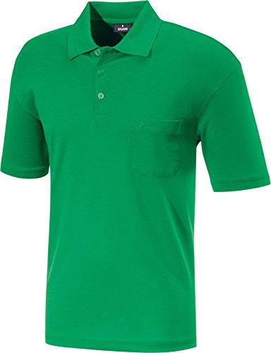 Ragman Herren Kurzarm Softknit Poloshirt Minze