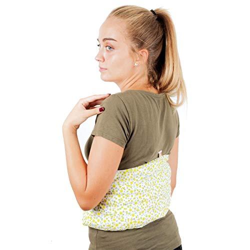 Faja Térmica Lumbar de Semillas - Almohada de Calor para Espalda Calentar en Microondas 60x20 cm...