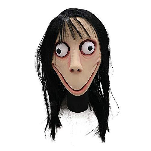 Latex Horror Maske - TRUBUY Scary Momo Maske Halloween Horror