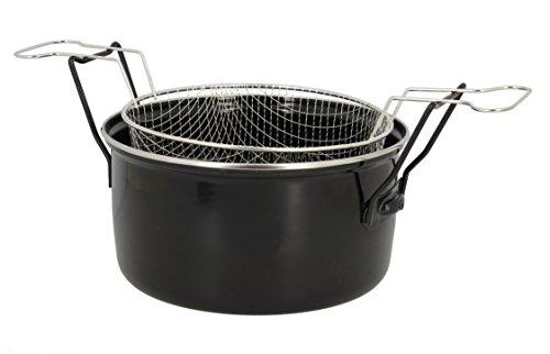 Util'Home 3645575 - Freidora Acero, 28 cm, Color Negro