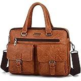 Business Tote Hand Strap computer briefcase casual multi pocket large capacity Shoulder Bag for Men