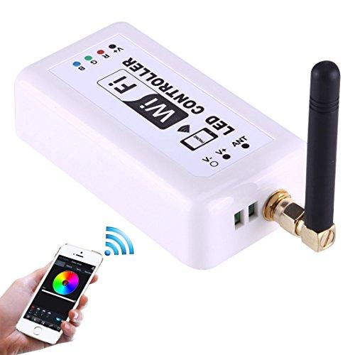Light Controller, Wifi RGB LED Remote Controller, Support iOS 6 ou ultérieur et Android 4.0 ou version ultérieure, DC 12-24V