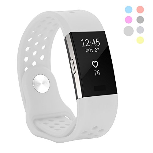 Kutop für Fitbit Charge 2 Armband weiches Silikon sports Ersetzerband Silikagel Fitness verstellbares Uhrenarmband für Fitbit Charge 2