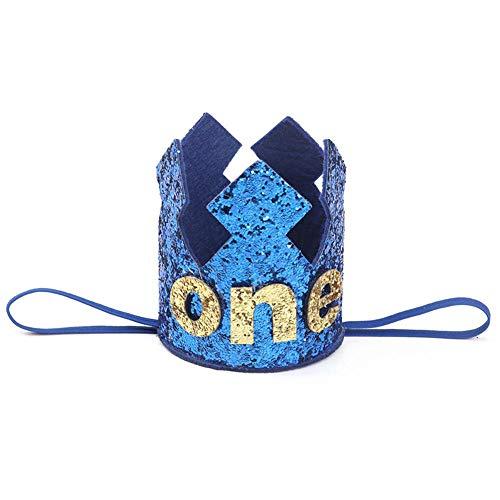 sfeier-Krone Sparkly mit Prinz King Party Crown Hut Kuchen Smash Foto Prop für 1. Geburtstag 2 Nd Geburtstag 3 Rd Geburtstag für Geburtstagsfeier Baby Shower Foto Requisiten ()