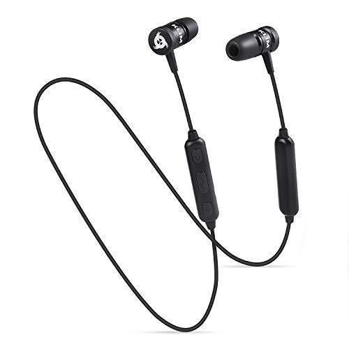 KLIM Fusion Bluetooth Wireless NOVITÀ 2019 - Alta qualità audio - Durevoli + 5 anni di garanzia - Innovativo: Auricolari In-Ear con memory foam, con microfono - Nero