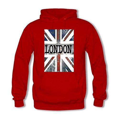 HGLee Printed Personalized Custom London Women's Sweatshirts Hooded Hoodies Red--3
