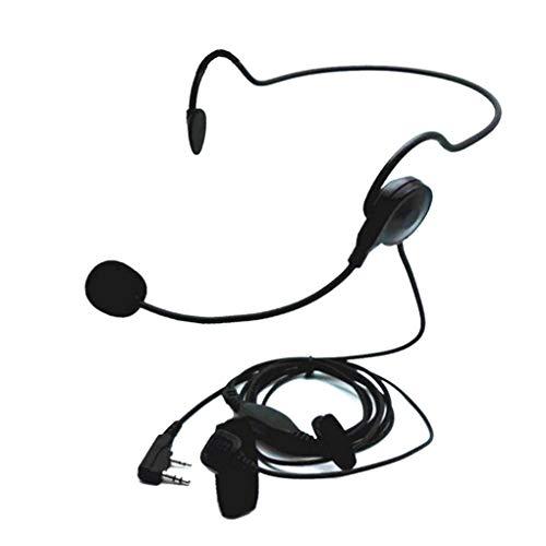 Demino Universal-2 Pin Finger PTT Hörmuschel Weiche Mikrofon-Kopfhörer Ersatz für Kenwood BAOFENG UV-5R Bf-888s Retevis H777 schwarz -