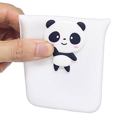 """iPhone 7 / iPhone 8 (4.7"""") Hülle, BENKER Hochwertigem Neu Kreativ 3D Karikatur Durable TPU Silikon Kratzfeste Stoßfest Rutschfeste Handyhülle - Flamingo Weißer Panda"""