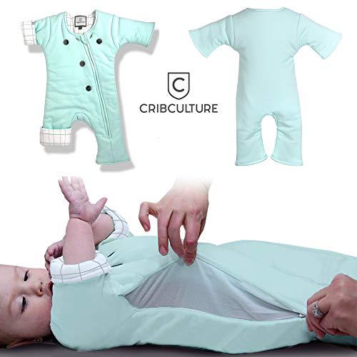 Hilft den Übergang vom Pucken: Schlafanzug/tragbare Decke für Baby/3-9 Monate, 12-21 lbs (Mint_Grid)
