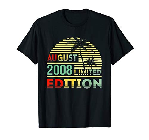 Geschenk zum 11. Geburtstag Jahrgang 2008 August T Shirt -