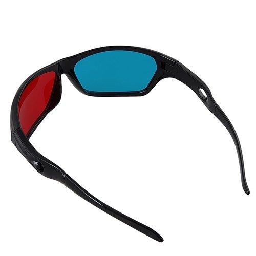 SODIAL(Wz.) Rot und Blau/Blaugruen Anaglyph Einfacher Stil 3D-Brille fuer 3D Film Spiel (Extra Upgrade-Stil)