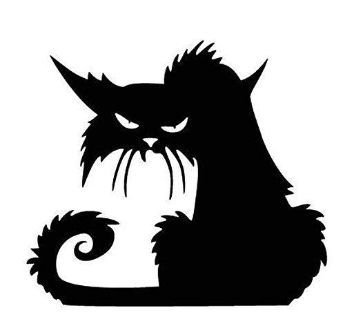 Bellecita Halloween Aufkleber 3D Schwarze Katze Wandaufkleber DIY Fenster Aufkleber Abnehmbare Aufkleber Kreative Wohnkultur